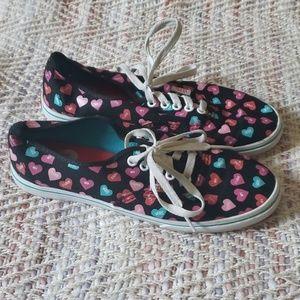 VANS Valentine Heart Candy Sneakers Sz 8